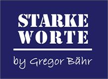 Logo - Starke Worte - Gregor Bähr